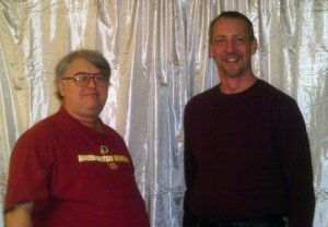 FireTag (aka Darryl Holliday) is on the left with a friend.  The photo is from November 2010.