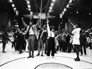 photo from halftime of BYU-CSU game at Moby Arena in 1970.  More photos are at http://www.coloradoan.com/media/cinematic/gallery/23309601/1970-csu-students-protest-lds-church/