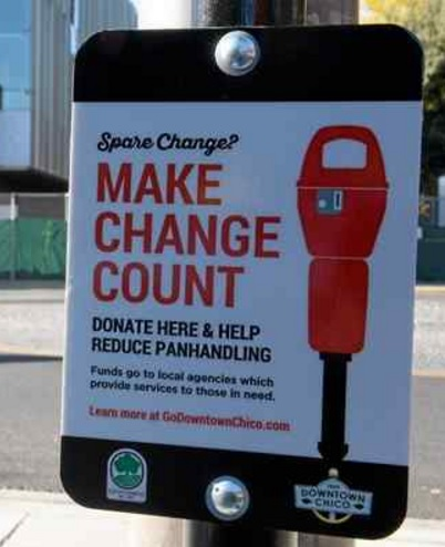 You may have seen signs like this, encouraging you to help by avoiding panhandling and helping homeless charities.